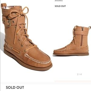 IDSO SPERRY STARPOINT LEATHER LACE UP BOOT HIGHTOP